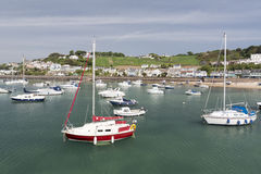 Marina in gorey town, channel islands Stock Photos