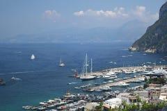 Marina Grande, île de Capri, Italie images libres de droits