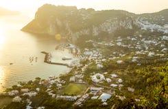 Marina Grande auf Capri-Insel, Italien stockfoto
