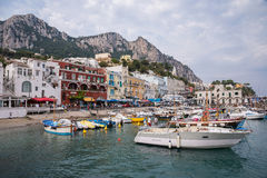 Marina Grande on Capri Island Royalty Free Stock Image