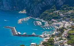 Marina Grande, Capri island, Italy Royalty Free Stock Photos
