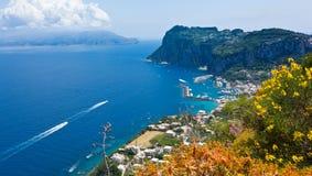 Marina Grande, Capri wyspa, Włochy Zdjęcie Royalty Free