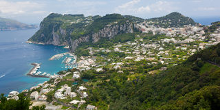 Marina Grande, Capri wyspa, Włochy Obraz Stock