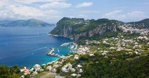 Marina Grande, Capri wyspa, Włochy Fotografia Stock