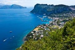 Marina Grande, Capri wyspa, Włochy Obrazy Stock