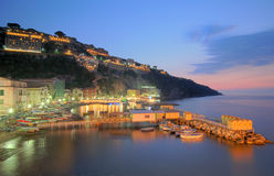 Marina Grande at dusk. Dusk shot of Marina Grande, Sorrento Stock Images