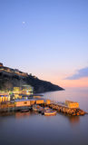 Marina Grande at dusk. Dusk shot of Marina Grande, Sorrento Royalty Free Stock Photo