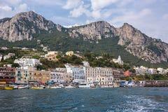 Marina Grande en la isla de Capri Imagenes de archivo