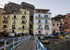Marina Grande, fishing village in Sorrento, Italy. Pictured is the Marina Grande, a fishing village in Sorrento.  Sorrento is a town overlooking the Bay of Royalty Free Stock Photography