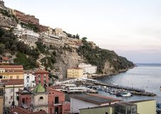 Marina Grande, fishing village in Sorrento, Italy. Pictured is the Marina Grande, a fishing village in Sorrento. Sorrento is a town overlooking the Bay of Naples stock photography