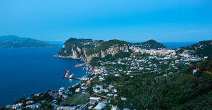 Marina Grande by night, Capri island, Italy Royalty Free Stock Photo