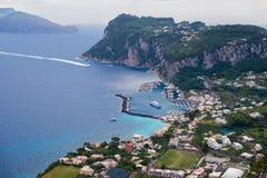 Marina Grande, porto di Capri Fotografia Stock