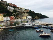 Marina Grande Sorrento. View from the road up Royalty Free Stock Image