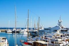 Marina in Greece. View of a marina with luxury yachts. Marina Zea in Piraeus, Greece stock image