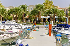 Marina in a Greek resort. At summer time Stock Photography