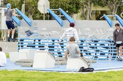 Marina Green Outdoor Gym San Francisco Arkivfoto