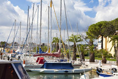 Marina of Gruissan in south France Royalty Free Stock Photos