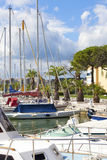 Marina of Gruissan in south France Stock Image