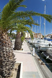 Marina of Gruissan in south France Royalty Free Stock Photography