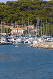 Marina of Gruissan in southern France Stock Images