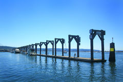 Marina Guest Moorage Dock Stockfoto