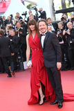 Marina Hands et Guillaume Gallienne photos libres de droits