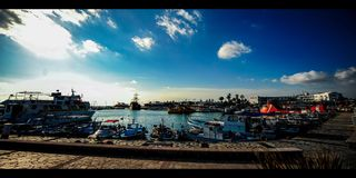 Marina Harbor Cyprus (4k) Lizenzfreie Stockfotos