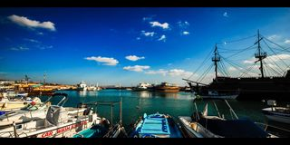 Marina Harbor Cyprus (4k) Stock Images