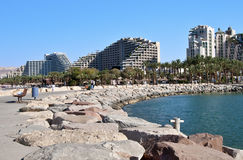 Marina harbor at Eilat city Royalty Free Stock Images