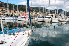 Marina Harbor's Sailing boats Stock Images