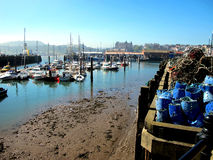 Marina and harbor, Scarborough. Stock Photos