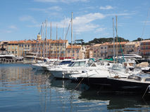 The Marina and Harbor of St Tropez, France Royalty Free Stock Photography