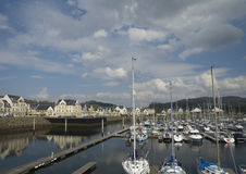 Marina and harbourside development. View of Kip Marina, Inverkip, Inverclyde, Scotland, showing layout and design of new harbourside housing development Royalty Free Stock Photo