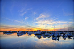 Marina Hdr Royalty Free Stock Photos