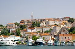 Marina and historical center of Vrsar Royalty Free Stock Photography