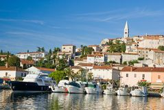 Marina and historical center of Vrsar. Istria, Croatia Stock Photography