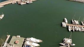 Marina - hiszpańszczyzna port z małymi łódkami i jachtami w Altea, Hiszpania, Alicante prowincja zbiory