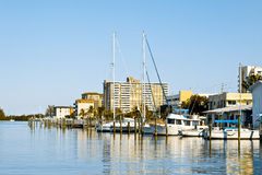Marina in Hollywood, Miami Stock Images