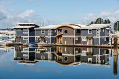 Marina Homes Reflected Fotos de Stock Royalty Free