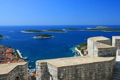 Marina on Hvar, Croatia Royalty Free Stock Image