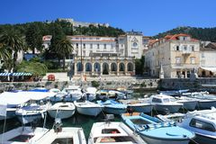 Marina on Hvar, Croatia Royalty Free Stock Photography