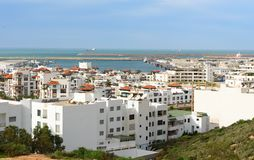 Marina i den Agadir staden, Marocko Royaltyfria Bilder