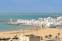 Marina i den Agadir staden, Marocko Royaltyfri Foto