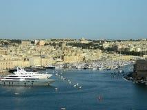 Marina i den storslagna hamnen, Valletta, Malta Arkivbild