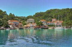 Marina i Kroatien Arkivbild