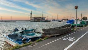 Marina i molo w Nida, Lithuania obraz stock