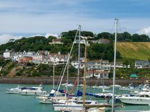 Marina on the Island of Jersey royalty free stock photo
