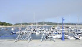 Marina in Island of  La Toja Royalty Free Stock Image