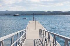 Marina jetty Stock Images