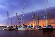 The marina at Kalamata Stock Photography
